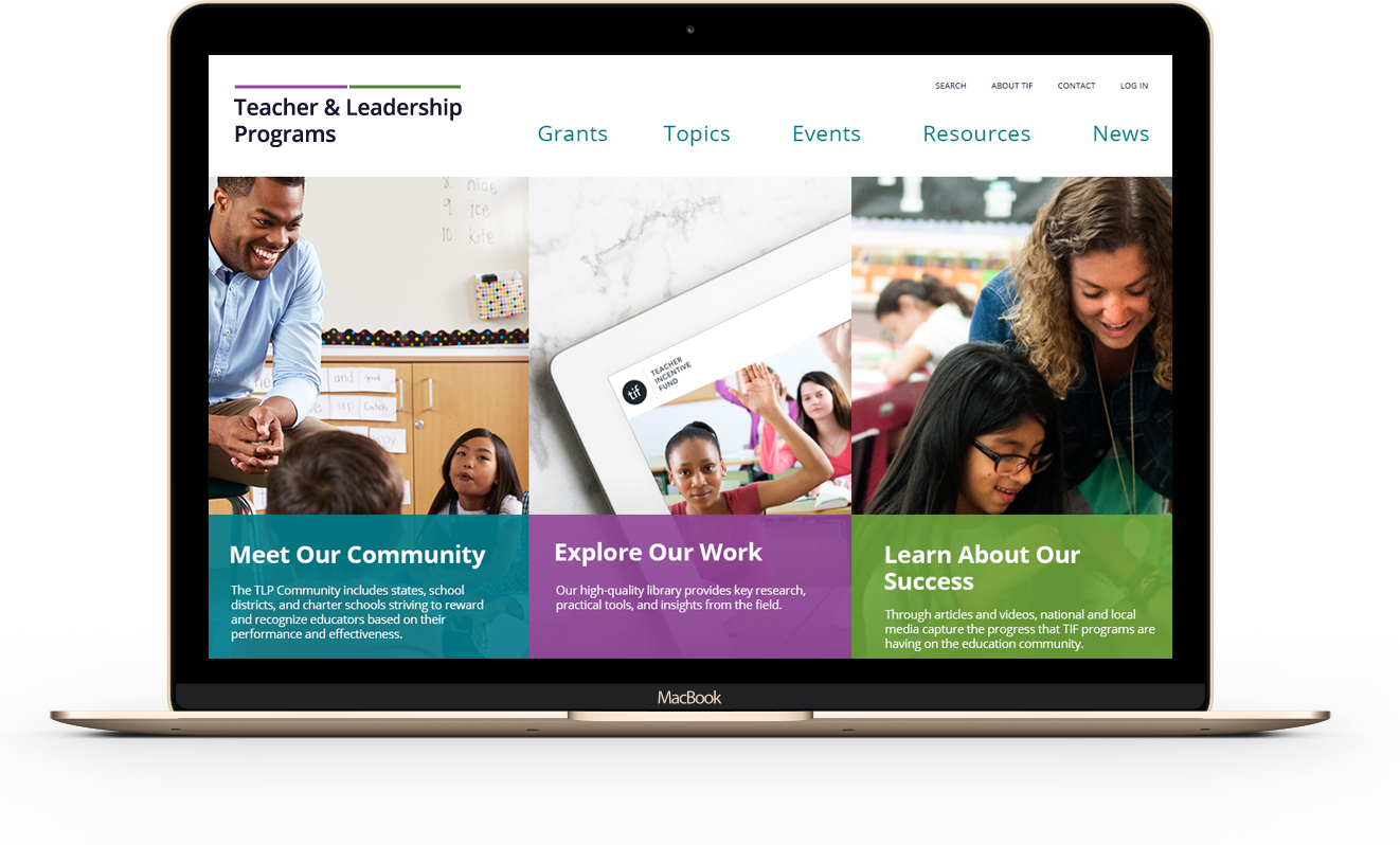 Teacher and Leadership Programs home page on a desktop